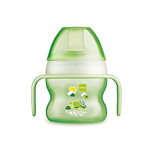 MAM 670183, Tazza di apprendimento, salvagoccia, per bambini, 150 ml, Verde (grün)