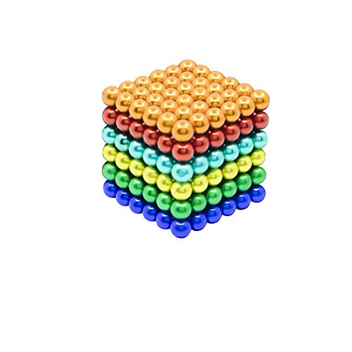 Qqwe 5MM 216 Pcs Magnetic Balls Cube Fidget Toys Rare Earth Magnets Office Desk Toy, Magnetic Beads Stress Relief Toys for Adults