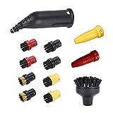 Cepillo de boquilla de vapor cepillos redondos aptos para Karcher CAROLINA DEL SUR Serie SC2 SC3 SC4 SC5 Accesorios de cepillo de cobre de la boquilla de la extensión de vapor Piezas de aspiradora
