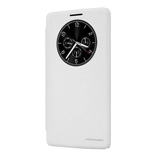 Nillkin LGG4STYLUS-Sparkle-White Funkeln Leder Tasche für LG G4 Stylus weiß
