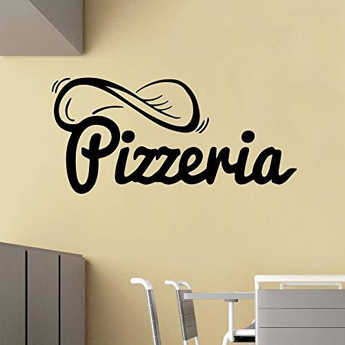 wZUN Large Pizza Vinyl Wallpaper Kids Room Home Decoration Sticker Kitchen Room Decoration 33X70cm