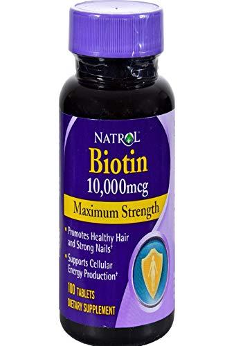 Natrol Biotin 10000 mcg (100) Standard, 50 g