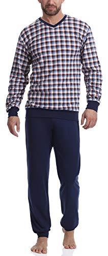 Timone Pyjama Ensemble Haut et Bas Vêtements d'Intérieur Homme TI30-107 (2021/18 Bleu Sombre, M)