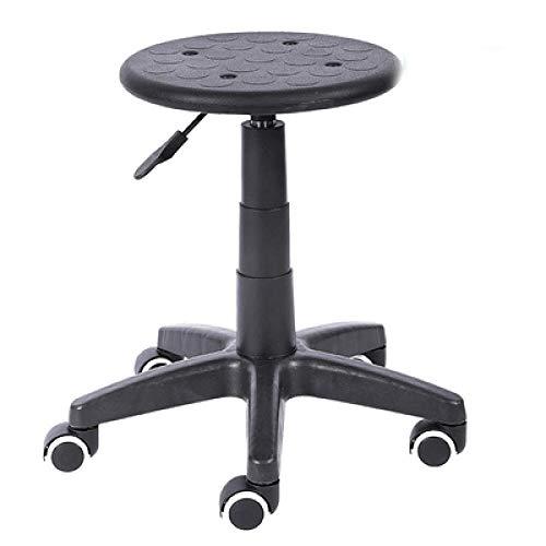 ZFMLXFMM Taburete para oficinas,Elevador de sillas de Bar, taburetes de Belleza, polea giratoria, Taburete pequeño, Banco de Laboratorio de Acero Inoxidable antiestático @ Anti-Static_A_Style
