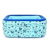 NXYJD Piscina Inflable jacuzzis bañeras infla la Bomba for inflar con tinas Plegable Durable for Adultos Bañeras