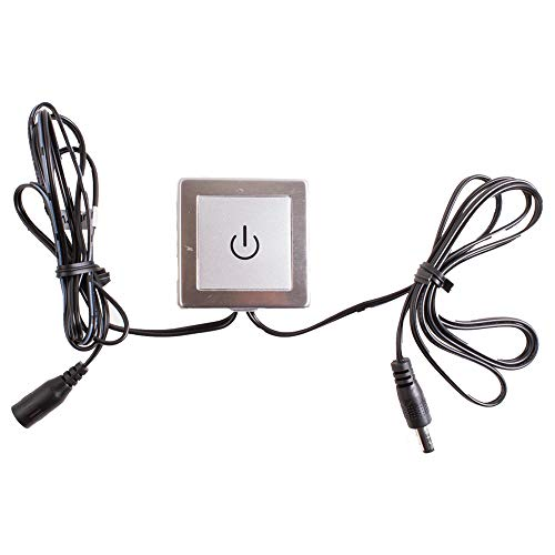 LEDUPDATES Inline Touch Switch, Dimmer, on/off Switch, Touch control Dim switch For LED Light Strip Module showcase light add on to Power Supply