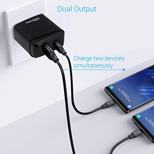 Portronics Adapto 22 Quick Charger USB Wall Adapter with Single 3.0A Quick Charging USB Port + 18W PD Output for All iOS & Android Devices (Black)