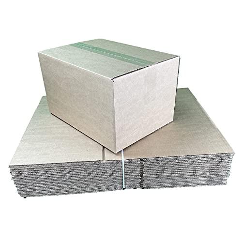 Pack 20 Cajas Carton 35x25x20 cm 17,5 L para Mudanzas - Almacenaje - Transporte Ultrarresistentes, Canal Simple Reforzado Fabricadas España. (35x25x20   20 und)