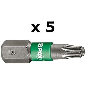 T20 T15 T30 Spax Embouts T-Star Plus 6,4 x 25 mm Torx T10 T40