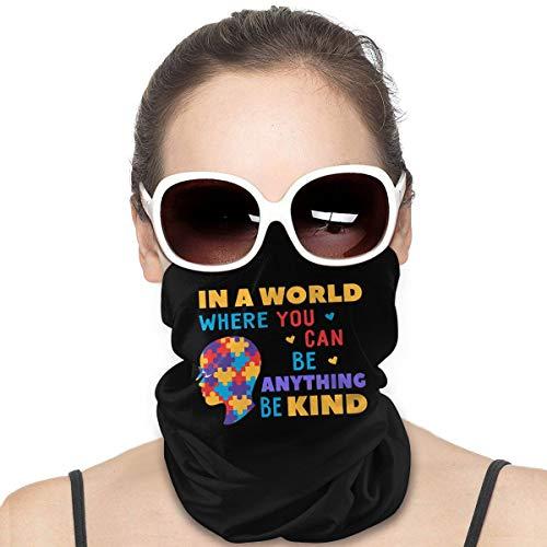 In A World Where You Can Be Anything Be Kind - Escudo de cara multiusos para la cabeza, pasamontañas y cuello