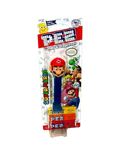 Nintendo Super Mario PEZ Dispenser and Candy (Mario)