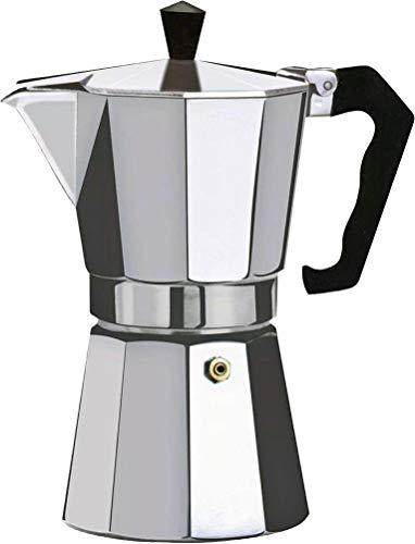 Orework Italienische Kaffeekanne, Aluminium, 6 Tassen