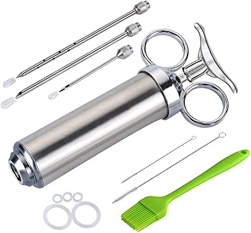 Meat Injector Great interest Kit for Smoker with Marinade Reservation Flavor 3 Food Injecto