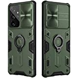 Samsung Galaxy S21 Ultra 5G Case with Ring Kickstand and Camera Lens Cover, CamShield Armor Shockproof PC & TPU Bumper Hybrid Protective Cover (Green,Galaxy S21 Ultra/S21 Ultra 5G)