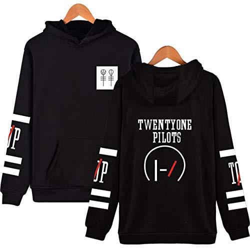HNOSD Einundzwanzig Piloten Hoodie Rock Band Hoodies Hip Hop Hoody World Tour Sweatshirts Männer/Frauen Print Jacke Album Pullover Fans Geschenk 1 S