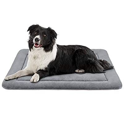 JoicyCo Dog Bed Crate Pad Mat 36/42/47 in Anti-Slip 100% Washable Dog Mattress Pets Kennel Pads