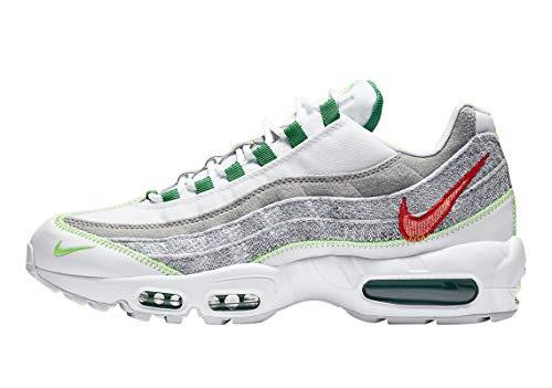 Nike Men's Air Max 95 Running Shoe, White Classic Green Electric Green, 9.5 UK