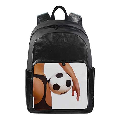 Bolso de Hombro Mochila Mochila Chica Sexy con balón de fútbol Bolsa de Viaje de fútbol Multifunción Casual