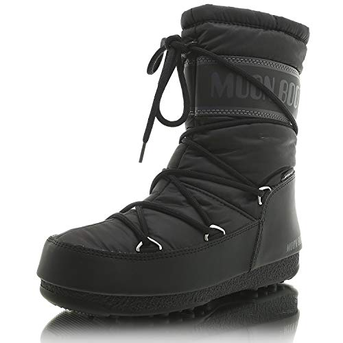 Moon-boot Mid Nylon WP, Bottes de Neige Femme, Noir (Nero 001), 41 EU