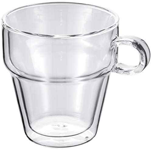 Judge empilable Tasse à café, Lot de 2, Verre, 250 ML