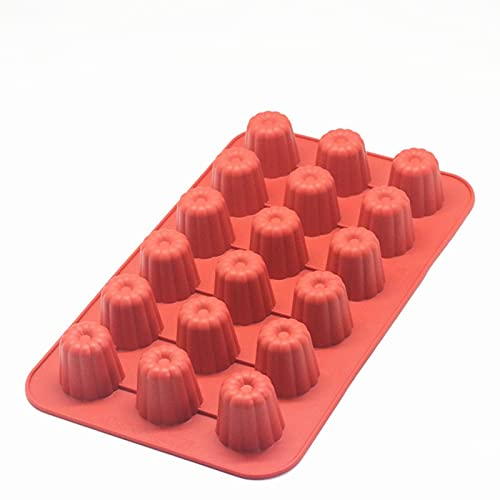 Molde de silicona para panecillos de 8/18 cavidades bordelais acanaladas para pasteles, magdalenas, bandeja para hornear, postre, pastelería y decoración de tartas (color 18 tazas)