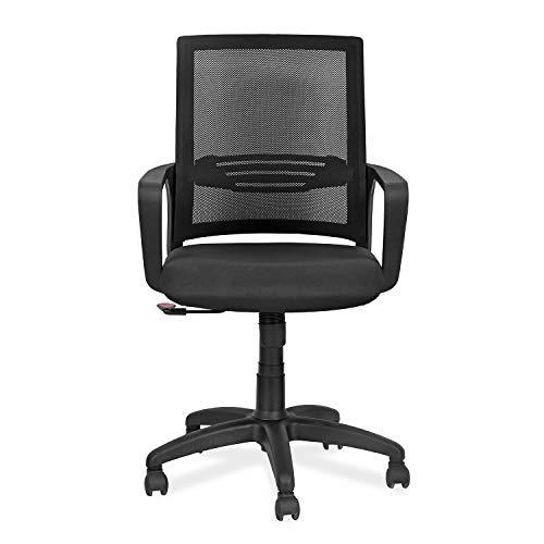 Nilkamal Ellen Mid Back Mesh Chair, Black