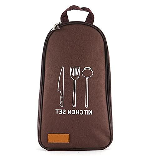 Sac de rangement portable pour camping - Organisateur d ustensiles de cuisine - Kit d ustensiles de cuisine - Trousse de toilette à suspendre - Sac de rangement portable pour le camping