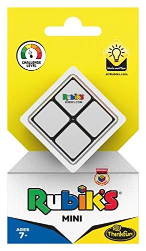 ThinkFun 76393 - Rubik's Mini, der Einstieg in die Welt des original Rubik's Cubes. Kompakter 2x2 Würfel und damit ein perfektes Geduldspiel für unterwegs.