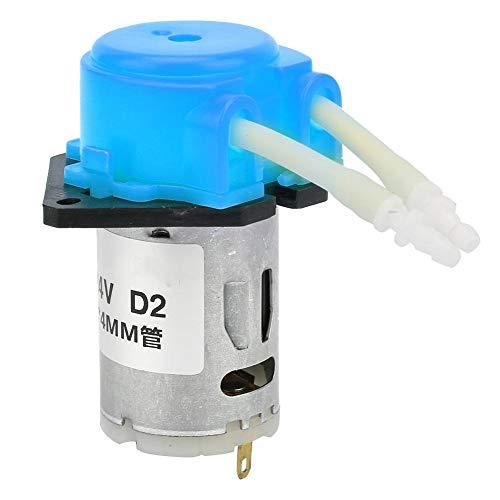 DC 24V Peristaltische Flüssigkeitspumpe ABS Selbstansaugende Laborpumpe 2 * 4mm für 0-40 ℃ Flüssigkeit(Blue)