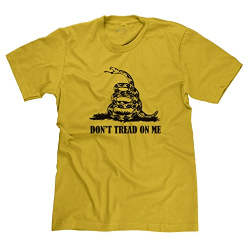 FreshRags Don't Tread On Me Conservative Tea Party GOP Men's T-Shirt MD Gold 316