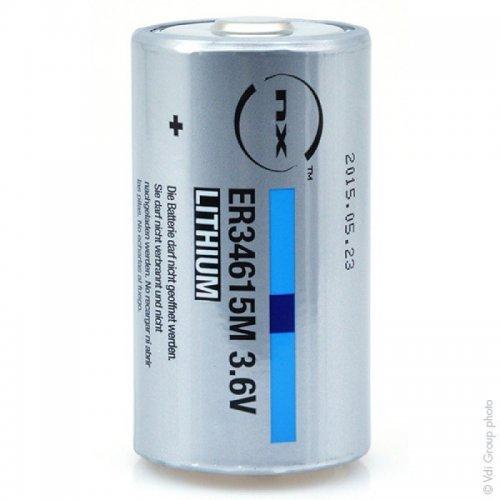 NX - Pile lithium ER34615M taille D 3.6V 14.5Ah PP - Pile(s)