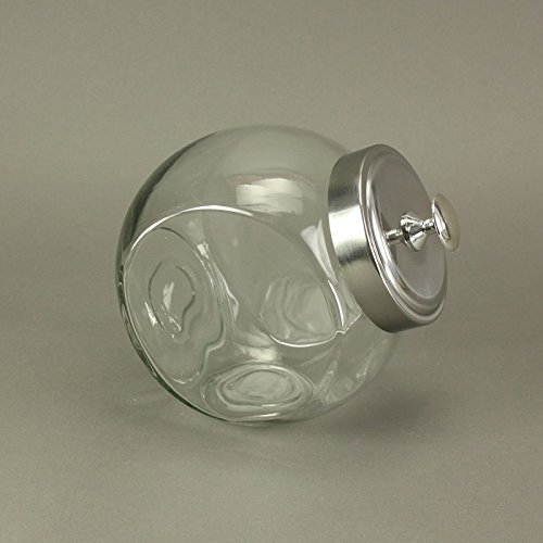 Tarro de cristal con tapa de metal para bombonera, tamaño grande