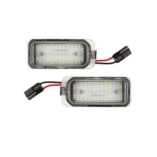 GOFORJUMP 2pcs Voiture Plaque d'immatriculation LED Allume l'ensemble de Lampe d'étiquette arrière Blanc 18-SMD 6000K pour J/aguar X/FXJ pour F/ord / Focus/F / iesta