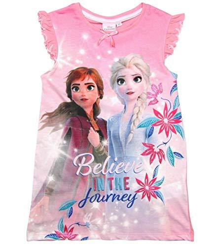 Frozen Nachthemd Mädchen Disney Anna und ELSA (Rosa, 104-110)