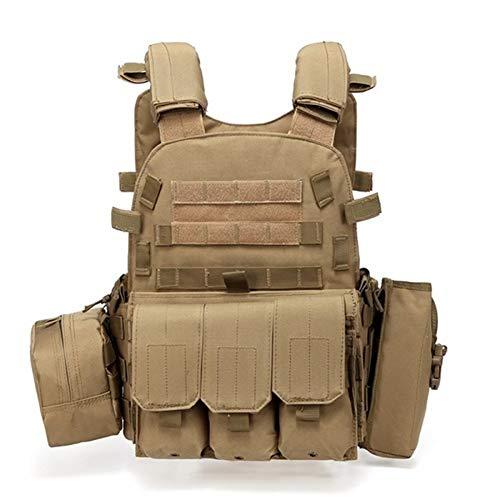 RZRCJ Jagd Tactical Accessoris Körperschutz JPC Plate Carrier Weste Ammo Magazine Chest Rig Airsoft Paintball Gear Loading Bear Westen (Color : TAN)
