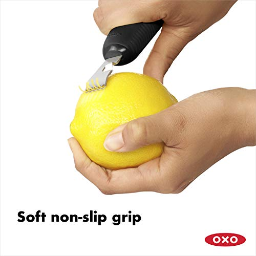 OXO Good Grips Citrus Zester and Channel Knife,Black,One Size