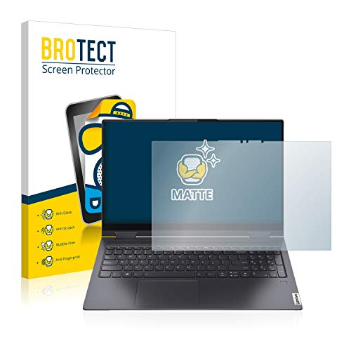 BROTECT Entspiegelungs-Schutzfolie kompatibel mit Lenovo Campus Yoga 7-15ITL Bildschirmschutz-Folie Matt, Anti-Reflex, Anti-Fingerprint