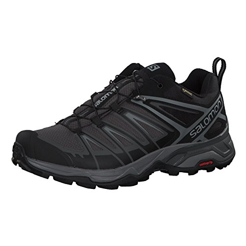 Salomon X Ultra 3 GTX, Zapatillas de Senderismo Hombre, Negro (Black/Magnet/Quiet Shade), 43 1/3 EU