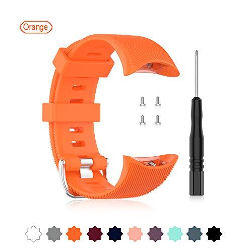 Buwico Horlogeband Voor Garmin 2 Zwemmen, Zachte Siliconen Horlogeband Vervangende Band Sport Polsband Fitness Armband voor Garmin 2 Zwemmen Smartwatch