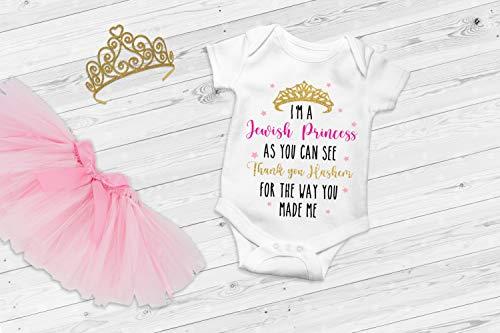 Jewish Baby Onesie, Baby Girl Gift, Hanukkah Baby Gift, Bling Bodysuit