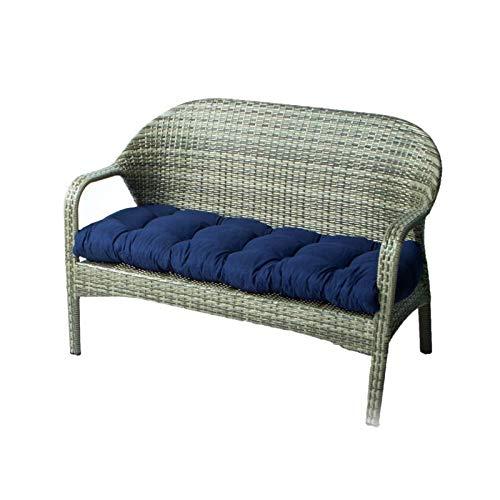 DERGH Bankauflage Dicke Bankauflage Rechteckige Bankmatte Gartenbankauflage 2-Sitzer für Indoor/Outdoor Bank Schaukel oder Sofa (130x50cm)