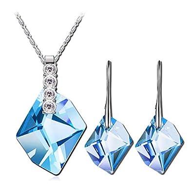 QIANSE ?Snow Queen? Necklace Earrings Bracelet Jewelry Set - Make Her Your Queen!