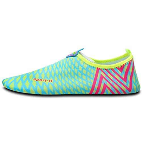 YQQMC Zapatos de Agua Descalzos de Secado rápido de un Paso Calcetines de Yoga de un Solo Paso Calzado Deportivo de Playa Natación surfeando Hombres/Mujeres/niños/niños/niñas Respirable