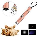 BiuCat C6 LED Pointer Katzen Hund 3 in 1 Katze Chaser Spielzeug Katze interaktive Spielzeug, USB-Direktladung, Geschenkbox (Orange)