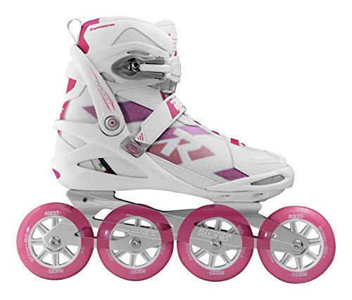 Roces Radon Women TIF, Pattino Inline Donna, White-Magenta, 36