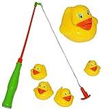 2 Set´s - großes Angelspiel mit je 5 Enten - Angel - Angeln für Kinder - mit Haken - Badewanne Spiel Fischeangeln / Kinderspiel Spiel - Wasserspielzeug Wasser..
