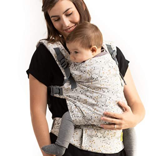 Fular Boba X Portabebés - Adaptable, Micro- Mochila de Estructura Suave y Ajustable para los Bebés de 7-45 lbs (Luna)