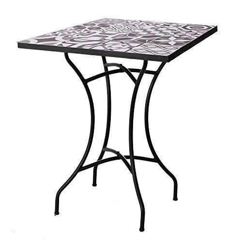 Mesa de jardín de Hierro con Mosaico Gris para terraza Garden - LOLAhome