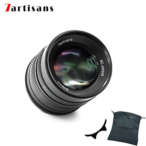 7artisans 55mm F1.4 APS-C Aluminum Manual Fixed Lens für Fuji X Mount Cameras Like X-A1 X-A10 X-A2 X-A3 X-at X-M1 XM2 X-T1 X-T10 X-T2 X-T20 X-Pro1 X-Pro2 X-E1 X-E2 X-E2s (Black)