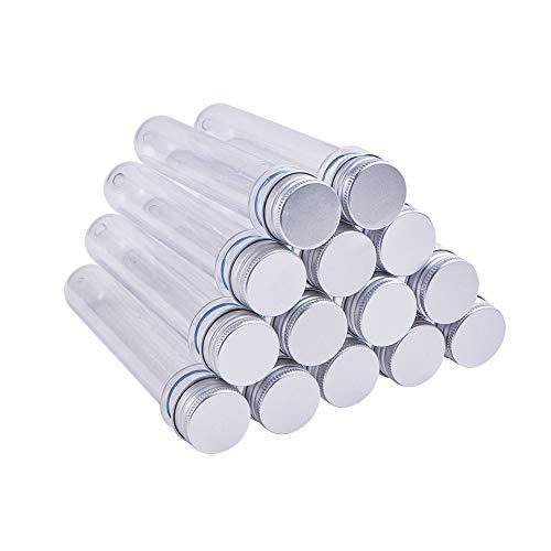PandaHall Elite & reg Recipientes de Cuentas de plástico, Botella, Columna, Transparente, 139.5x25mm